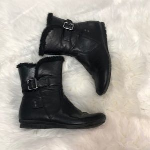 Cliffs white mountain black boots side zip size 8
